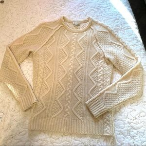 Club Monaco Wool Cable Knit Sweater